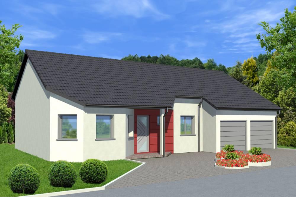 Metz maison de plain pied sur un terrain de 1000 m logis creation - Constructeur maison individuelle metz ...